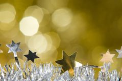 Christmas decorations. With unfocused background Stock Images