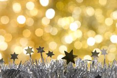 Christmas decorations. With unfocused background Royalty Free Stock Photo