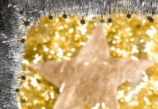 Christmas decorations. With unfocused background Stock Image