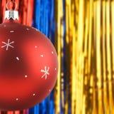 Christmas decorations. Photo of Christmas decorations over shiny background Stock Image