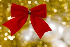 Christmas decorations. A christmas decoration with golden background Royalty Free Stock Image
