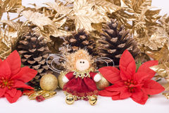 Christmas decorations. And greeting card Stock Photography