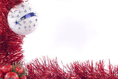 Christmas decorations. Background on white background Stock Photos