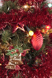 Christmas decorations. Christmas tree close up with decorations Royalty Free Stock Photography