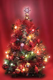 Christmas decorations. Christmas tree with soft focus background effect Stock Image