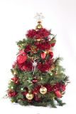 Christmas decorations. Christmas tree isolated on white background Royalty Free Stock Photos
