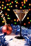 Christmas decorations. And martini glass Stock Photo
