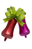 Christmas decorations. With a bow on a white background it is isolated Stock Photography