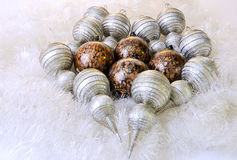 Christmas Decorations. Christmas ornaments and decorations shot in a studio setting Royalty Free Stock Photo