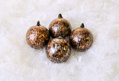 Christmas Decorations. Christmas ornaments and decorations shot in a studio setting Royalty Free Stock Image