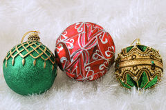 Christmas Decorations. Christmas ornaments and decorations shot in a studio setting Royalty Free Stock Images