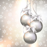 Christmas decorations on an abstract background royalty free illustration