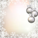 Christmas decorations on an abstract background Royalty Free Stock Photo