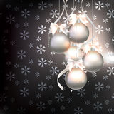 Christmas decorations on an abstract background Royalty Free Stock Photos