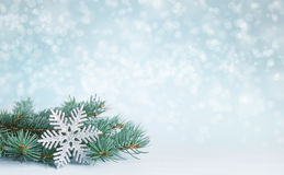 Christmas decorations. Christmas decorations on abstract winter background Royalty Free Stock Images