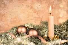 Christmas decorations, aged photo Royalty Free Stock Photo