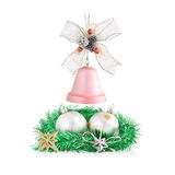 Christmas decorations arrangement. Stock Image