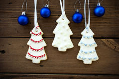 Christmas Decorations as Christmas or Winter Background Royalty Free Stock Photography