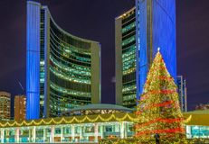 Christmas Decorations At Nathan Phillip Square In Toronto Stock Image
