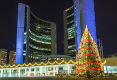 Christmas Decorations At Nathan Phillip Square In Toronto Stock Photography