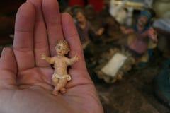 Nativity Scene. Christmas decorations baby Jesus royalty free stock photo