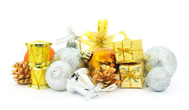 Christmas decorations background Royalty Free Stock Images