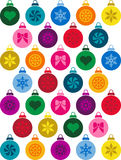 Christmas decorations background. This is a background made of Christmas decorations Royalty Free Stock Images