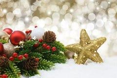 Christmas decorations background Stock Image