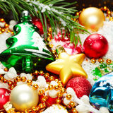 Christmas decorations background for Christmas Royalty Free Stock Images