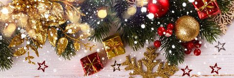 Christmas decorations background Stock Photos