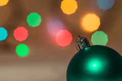Christmas decorations on the background of colorful bokeh Stock Photography