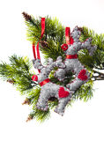 Christmas decorations background for congratulation cards Royalty Free Stock Photography
