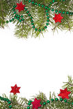 Christmas decorations background star stars green spruce twig Stock Images