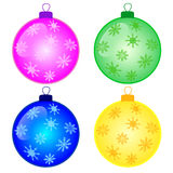 Christmas decorations. Balls isolated on white background vector illustration