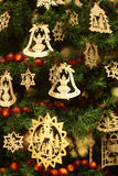Christmas decorations. Balls , stars , lights and local handicrafts prepared for the Christmas tree and to create the Christmas atmosphere Royalty Free Stock Image