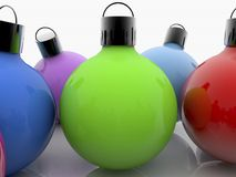 Christmas decorations balls in various colors. In backgrounds royalty free illustration