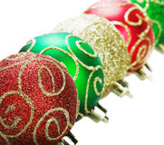 Christmas decorations, balls on a white background Royalty Free Stock Photo
