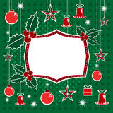 Christmas Decorations And Banner Royalty Free Stock Images