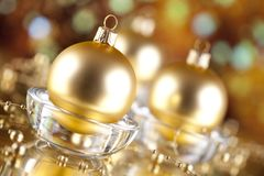 Christmas decorations - baubles on abstract background Stock Image