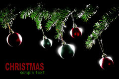 Christmas decorations baubles Xmas balls isolated Royalty Free Stock Images