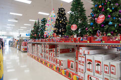 Christmas decorations, Big W superstore Stock Photos