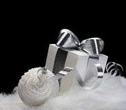 Christmas decorations on black background Stock Photo
