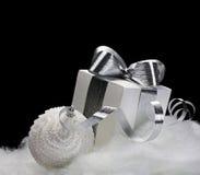 Christmas decorations on black background Stock Photo