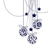 Christmas Decorations in black - vector elements. Christmas Decorations in black - 2d vector elements vector illustration