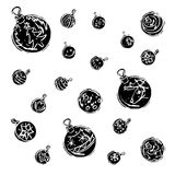 Christmas decorations black and white Royalty Free Stock Photo