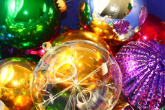 Christmas decorations with blur Royalty Free Stock Photos