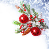Christmas Decorations border Royalty Free Stock Photography