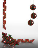 Christmas decorations Border Royalty Free Stock Images