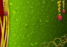 Christmas Decorations border background royalty free stock image