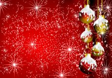 Christmas Decorations border background royalty free stock images